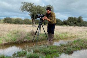Filmando naturaleza en Monfragüe