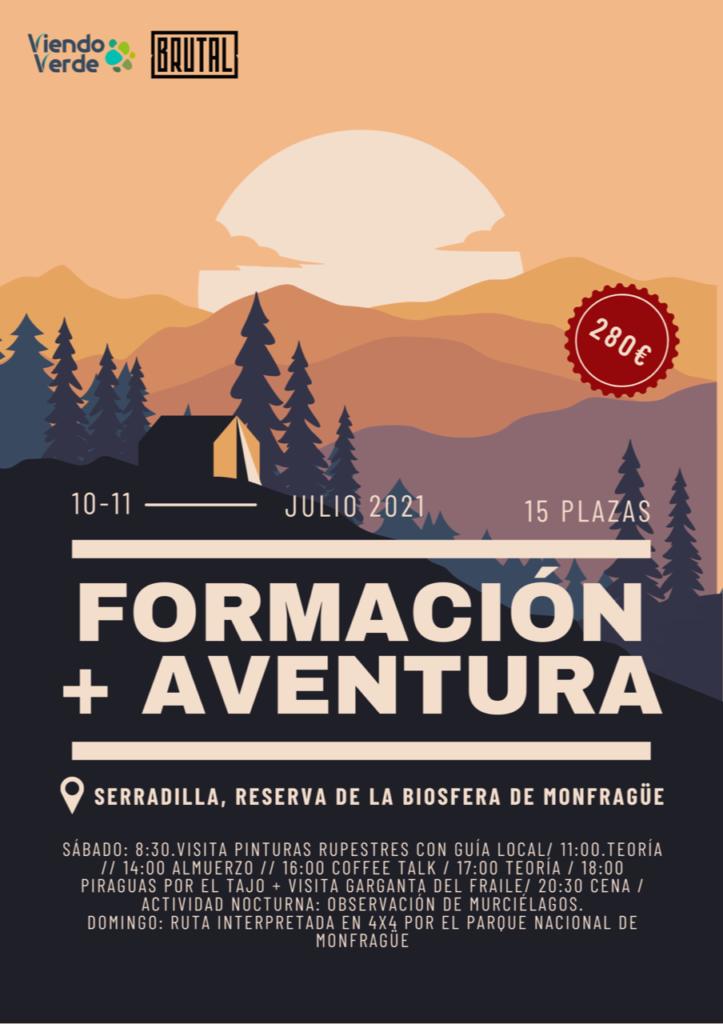 formación y aventura en Monfragüe